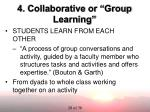 4 collaborative or group learning