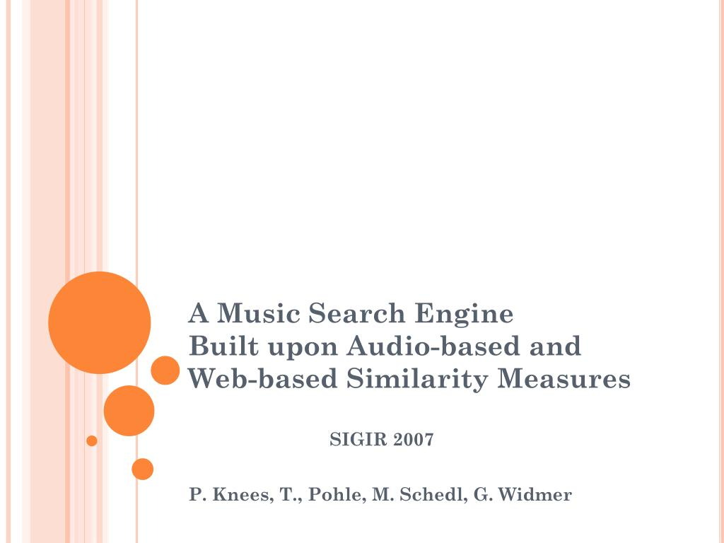 a music search engine built upon audio based and web based similarity measures l.