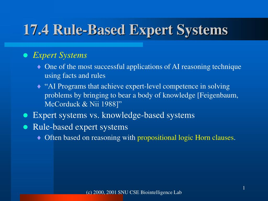 17 4 rule based expert systems l.