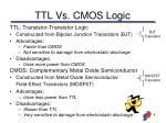 ttl vs cmos logic