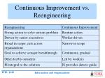 continuous improvement vs reengineering