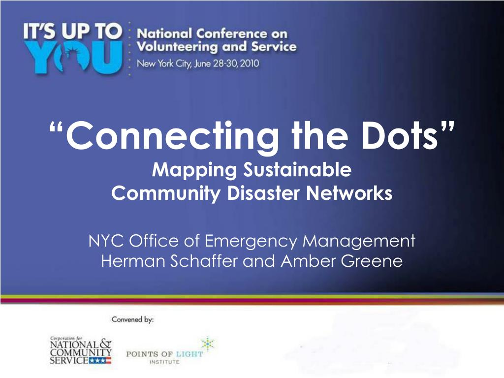 connecting the dots mapping sustainable community disaster networks l.