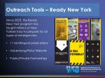 outreach tools ready new york