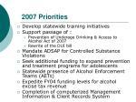2007 priorities