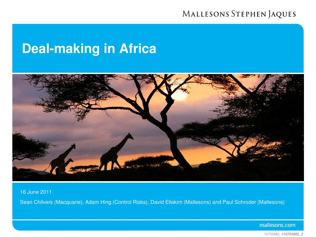 deal making in africa l.