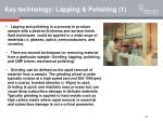 key technology lapping polishing 1