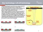 key technology lift off technology