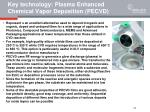 key technology plasma enhanced chemical vapor deposition pecvd