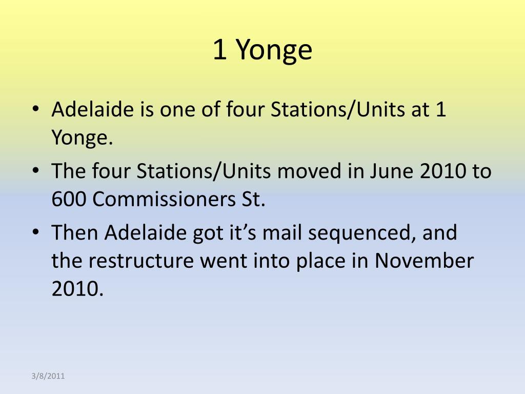 1 Yonge