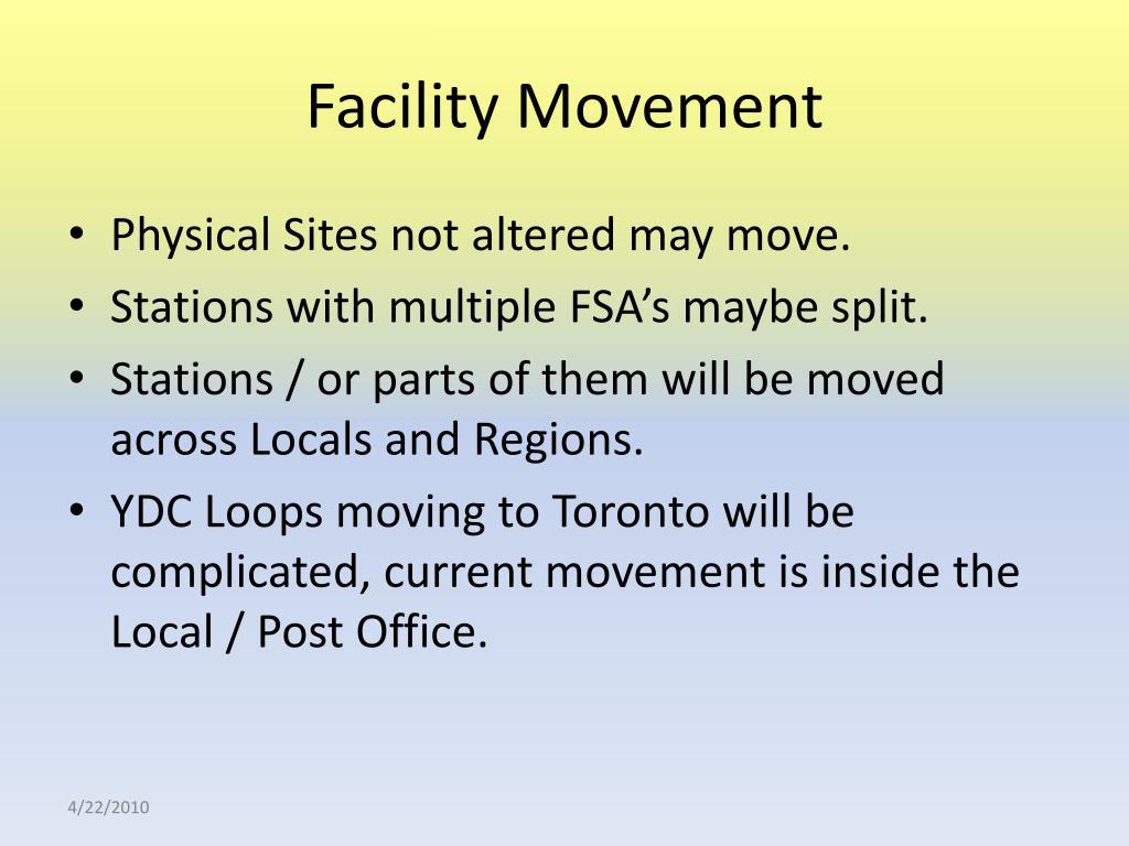 Facility Movement
