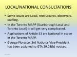 local national consultations