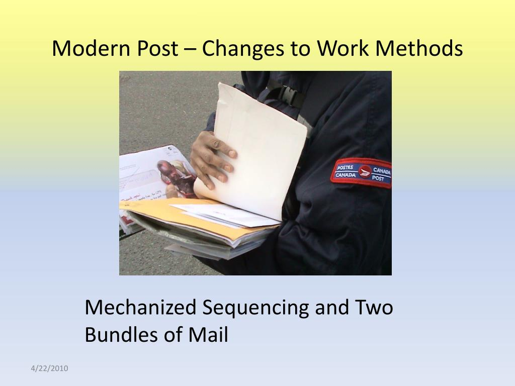 Modern Post – Changes to Work Methods