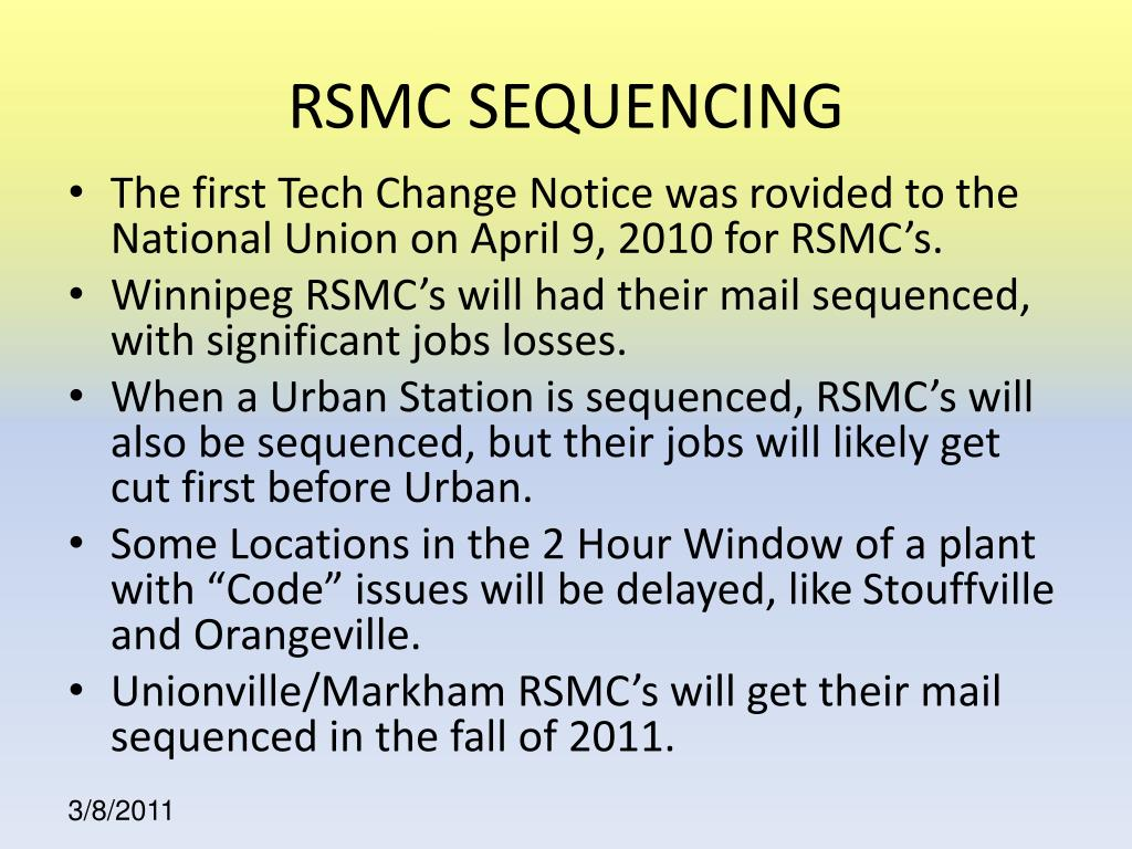 RSMC SEQUENCING