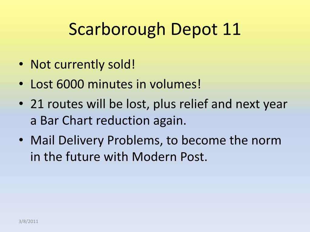Scarborough Depot 11
