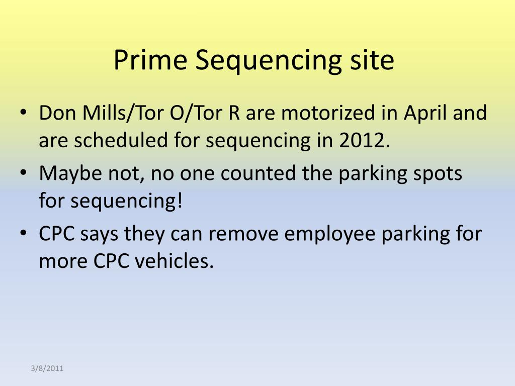 Prime Sequencing site