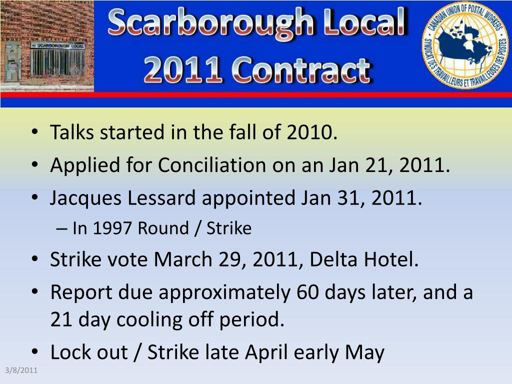 Talks started in the fall of 2010.