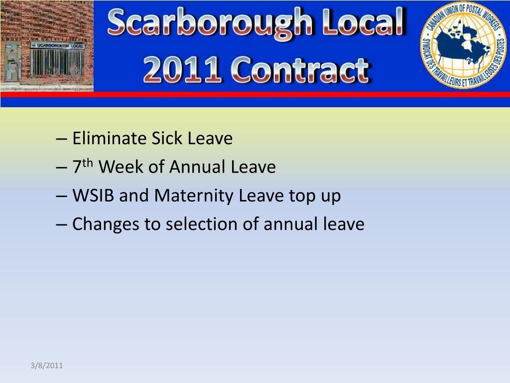 Eliminate Sick Leave