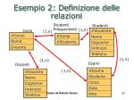 esempio 2 definizione delle relazioni67
