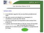 les services libres 3 3
