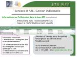 services et are gestion individuelle18