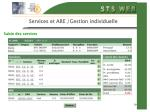 services et are gestion individuelle19