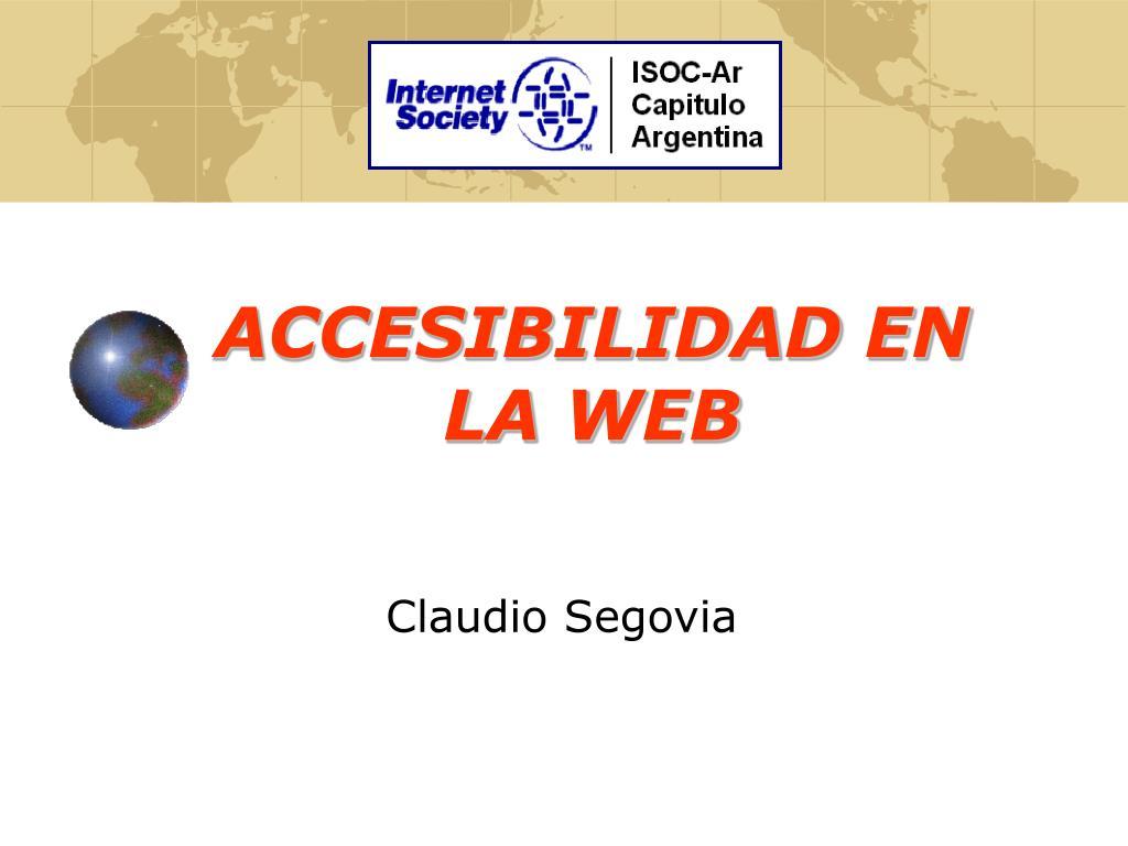 accesibilidad en la web l.