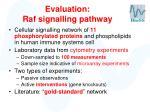 evaluation raf signalling pathway