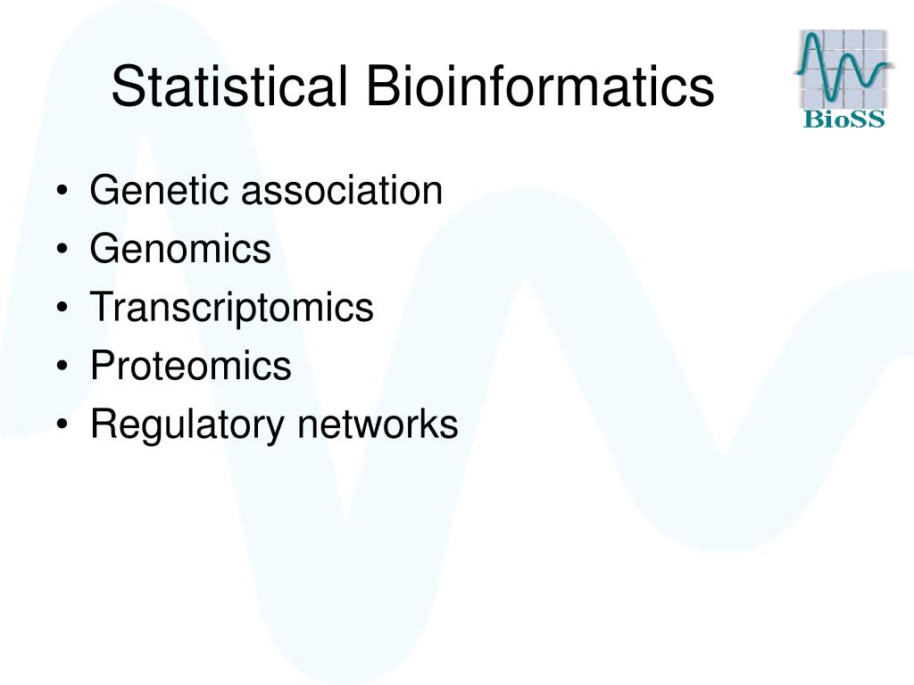 statistical bioinformatics l.