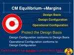 cm equilibrium margins