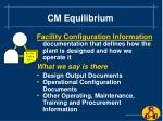 cm equilibrium5