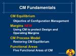 cm fundamentals