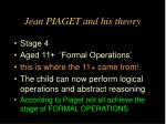 jean piaget and his theory24
