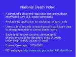 national death index