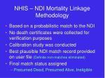 nhis ndi mortality linkage methodology