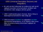 uddi universal description discovery and integration