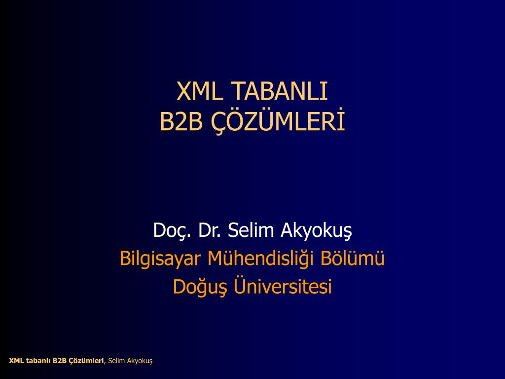 xml tabanli b2b z mler l.