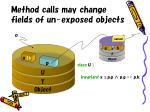 method calls may change fields of un exposed objects