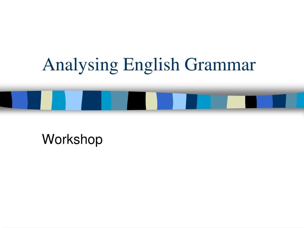 analysing english grammar l.