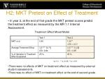 h2 mkt pretest on effect of treatment