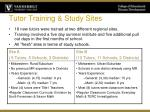 tutor training study sites