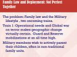 family law and deployment not perfect together