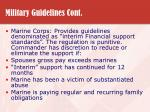 military guidelines cont