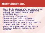 military guidelines cont27