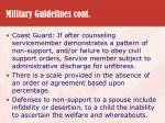 military guidelines cont28