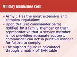 military guidelines cont29