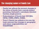 the changing nature of family law