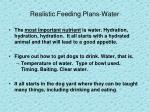 realistic feeding plans water