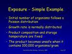 exposure simple example