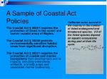 a sample of coastal act policies