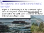 background the south central coastal bioregion